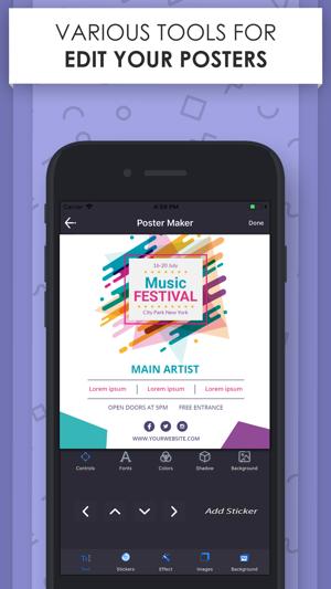 poster maker flyer designer on the app store