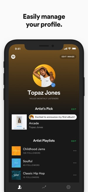 Spotify for Artists on the App Store