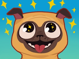Pug Run Stickers