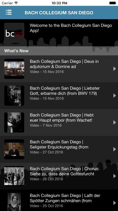 Bach Collegium San Diego screenshot two