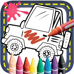 Cars Coloring Book .