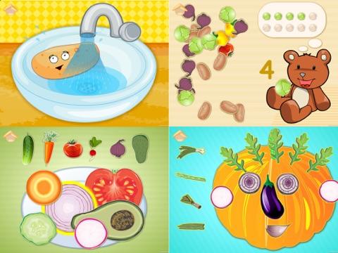 Screenshot #4 pour Les légumes drôles! Jeux éducatifs pour les enfant