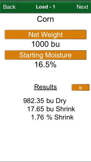 Dry Grain Calculator On The App Store
