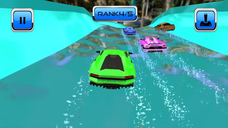 Water Slide Car Race and Stunt screenshot-3