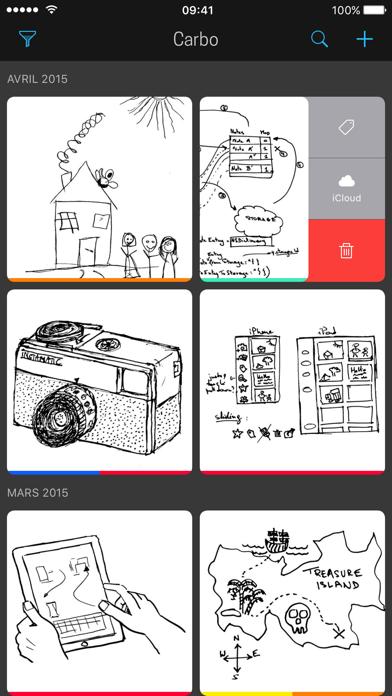 Screenshot #1 pour Carbo - Notes et dessins