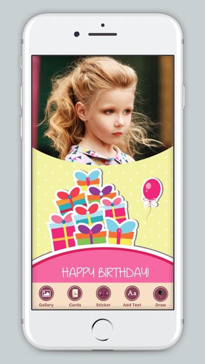 B'day Celebration Card Photo Frame screenshot-4