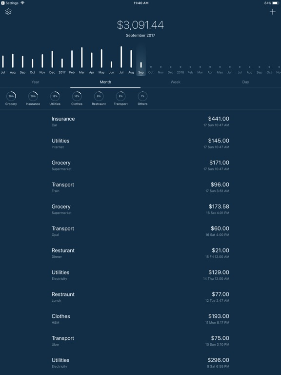 5coins Expense Screenshot
