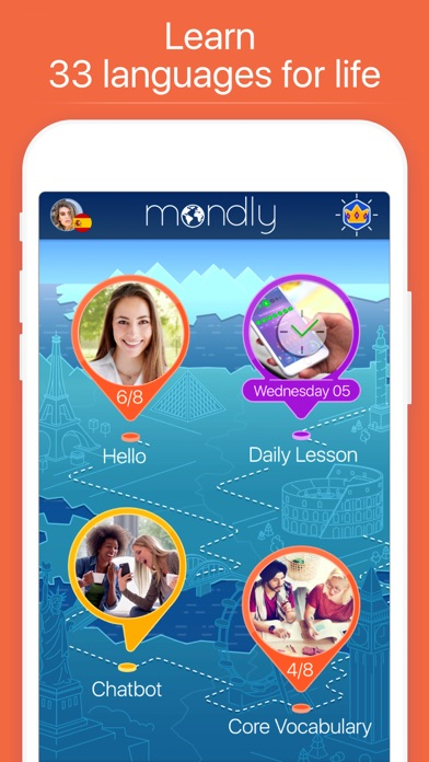 Mondly: Learn 33 Languages app image