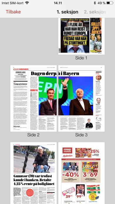 VG eAvis screenshot four