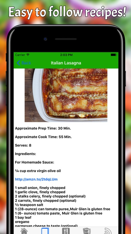Gluten Free Recipe Book Pro screenshot-2
