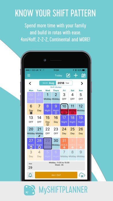 My Shift Planner Calendar App Mobile Apps TUFNC