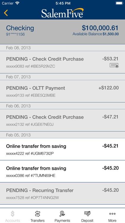 Salem Five Banking screenshot-3