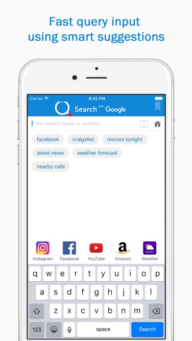 Smart Search & Web Browser – fast and easy to use app for surfing Web screenshot