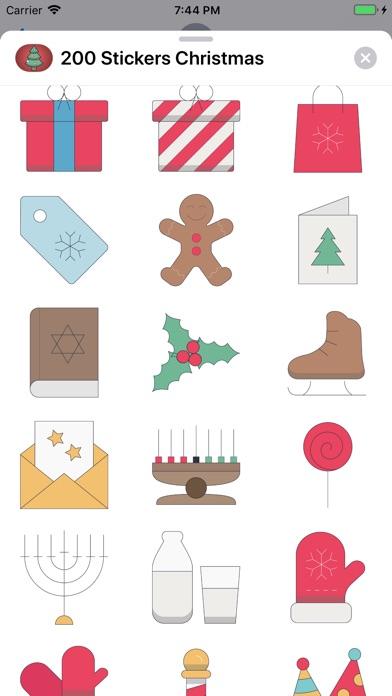 200+ Christmas Stickers screenshot 3