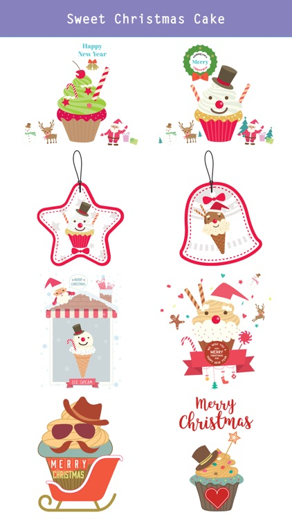 Sweet Happy Christmas Stickers