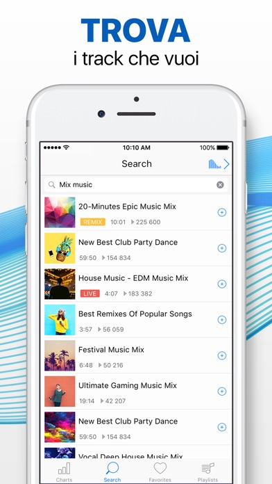 Screenshot for Lettore musicale senza limiti in Italy App Store