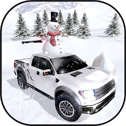 Winter Snow Giant Truck Drive