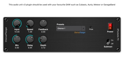 Flanger AUv3 Plugin screenshot 1