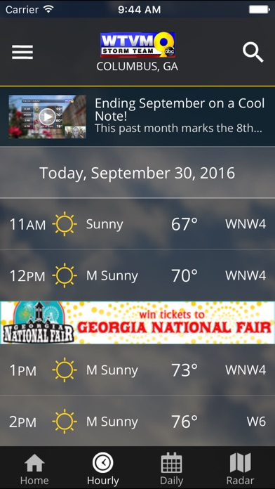 WTVM Storm Team Weather for Windows