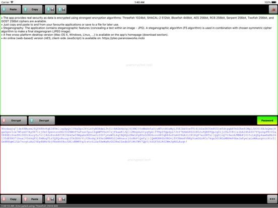 Paranoia Text Encryption PRO Screenshots