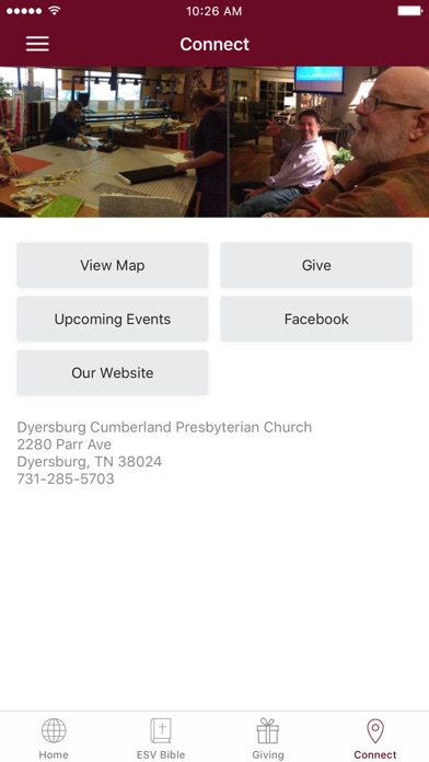 Dyersburg Cumberland Church screenshot 2