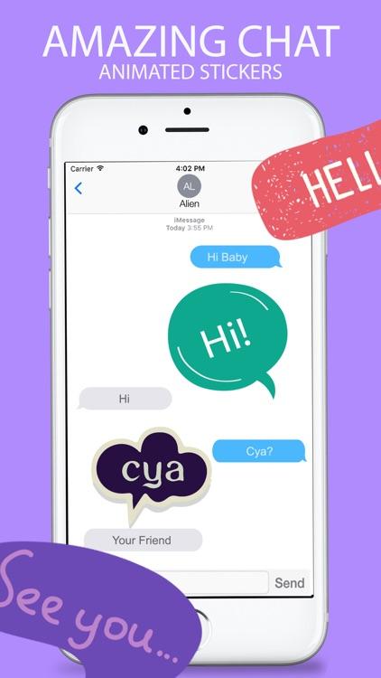 Animated Chatting Stickers screenshot-3