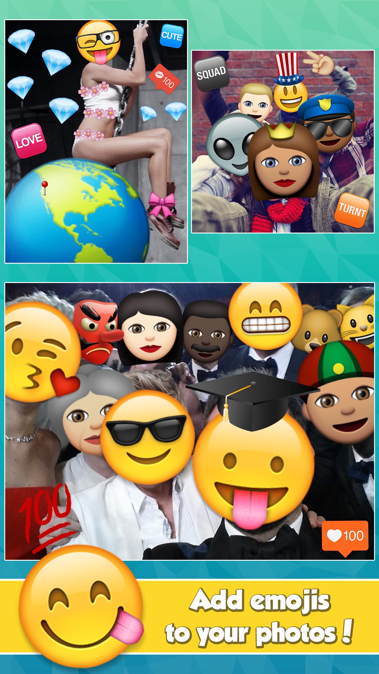 Insta Emoji Photo Editor Screenshot