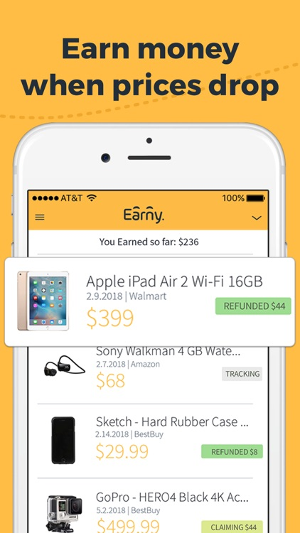 Earny: Automatic Cash Back