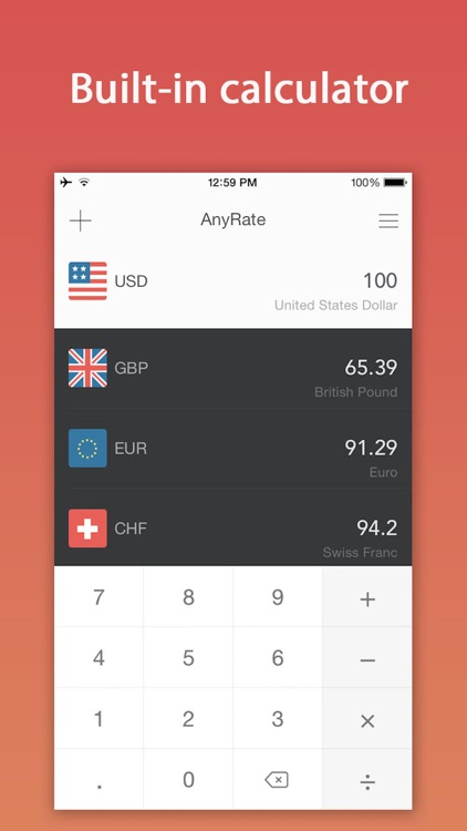 AnyRate - Currency Converter screenshot-0