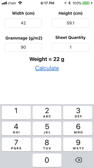 Screenshot for Metric Paper Weight in South Africa App Store