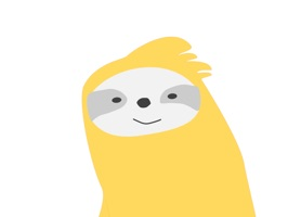 Badly drawn mediocre sloth stickers for your mediocre conversations