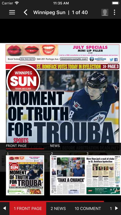 Winnipeg Sun ePaperScreenshot of 3
