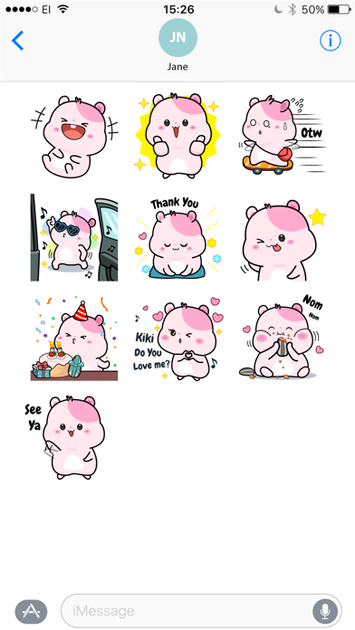 Kiki Hamster Stickers screenshot three