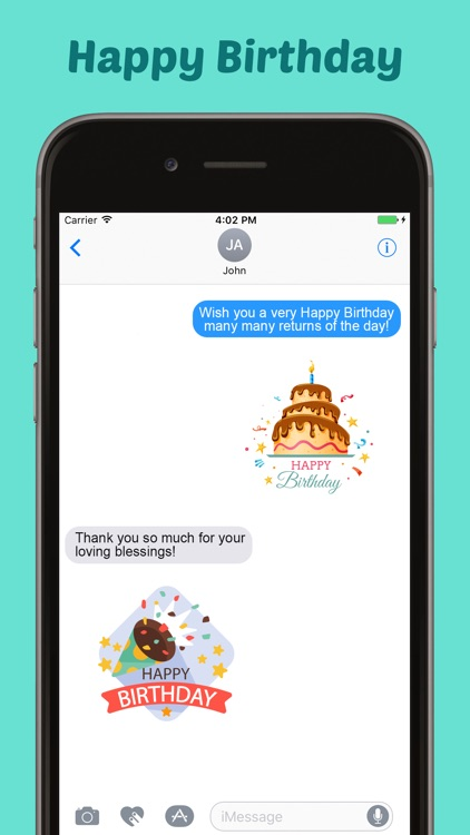 Happy Birthday Stickers Pack for iMessage