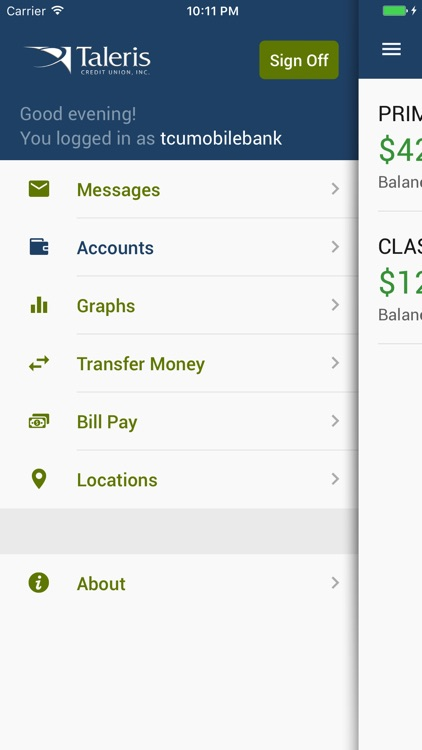 Taleris CU Mobile Banking screenshot-3