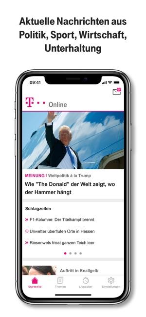 T Onlinede Nachrichten Im App Store