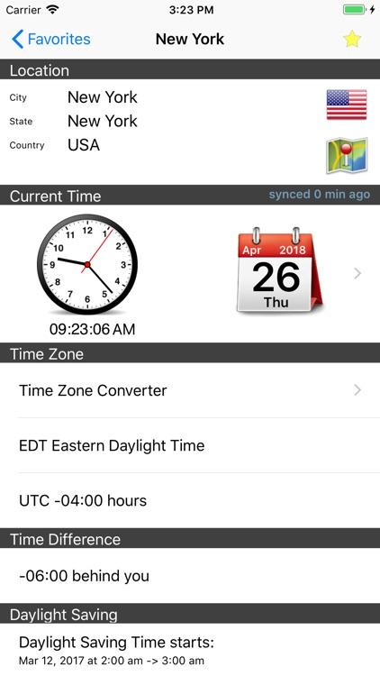 World Clock – Time Zones