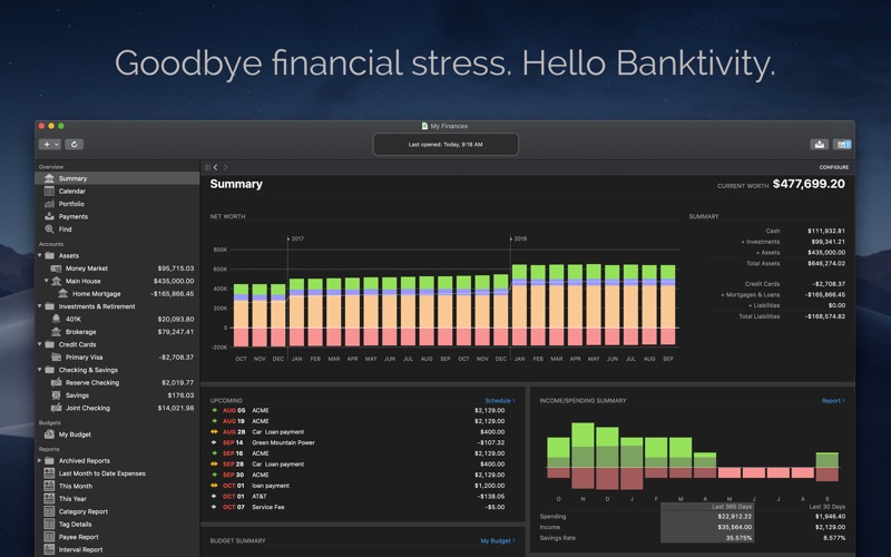 Banktivity 7 Screenshot