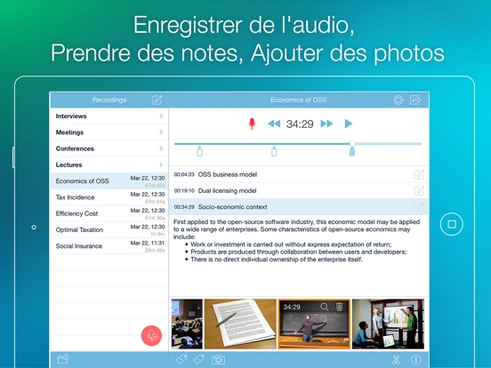 Screenshot #4 pour eXtra Voice Recorder - Enregistre & Prends Notes