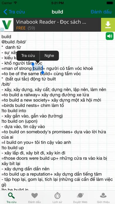 EVEDict - Từ điển Anh Việt screenshot two