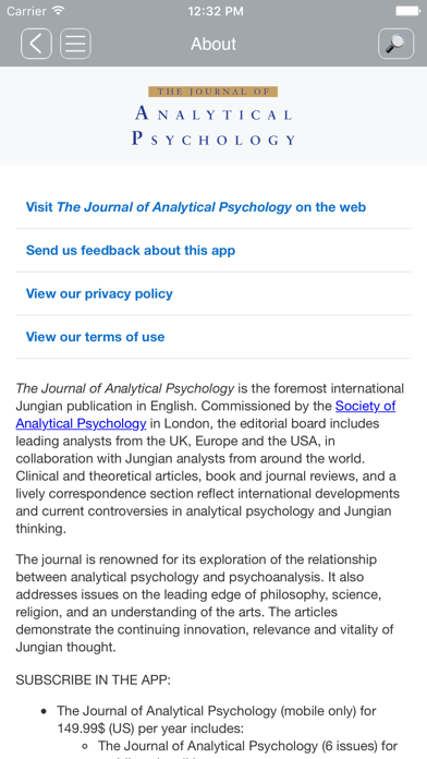Jrnl of Analytical Psychology screenshot three