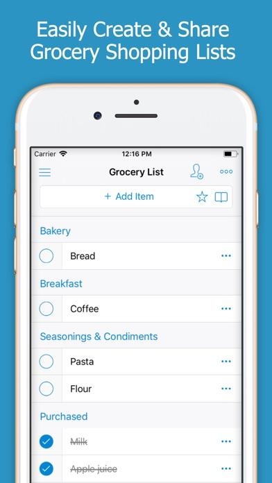 Shoppylist - Shopping Listのスクリーンショット