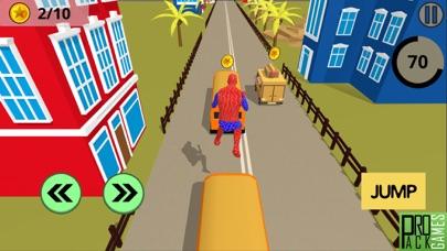 アメイジングスパイダースーパーヒーロー - 奇妙なランニングゲームのおすすめ画像1