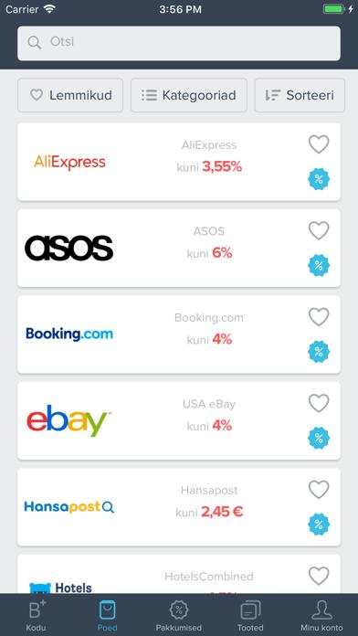Bonusway Eesti: Cashback app screenshot three