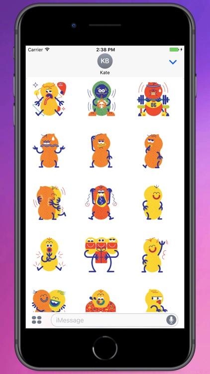 Crazy Mr.Nut Stickers
