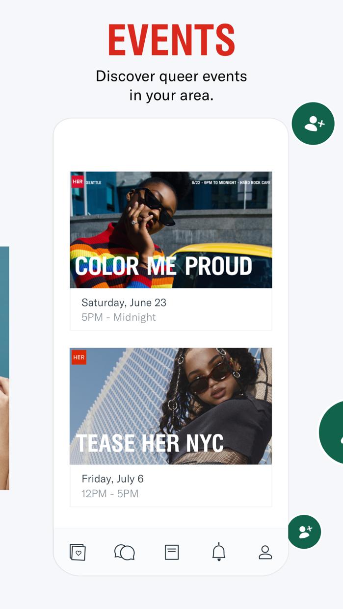 HER lesbian dating & queer app Screenshot