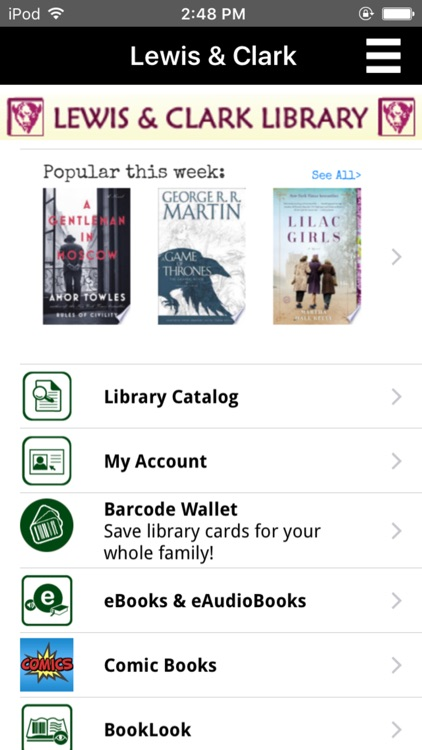 Lewis and Clark Library Catalog
