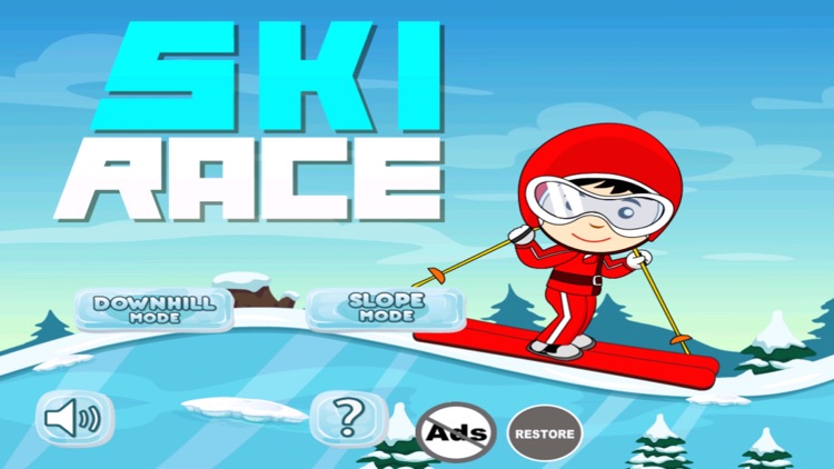 Ski Race - Neon Safari