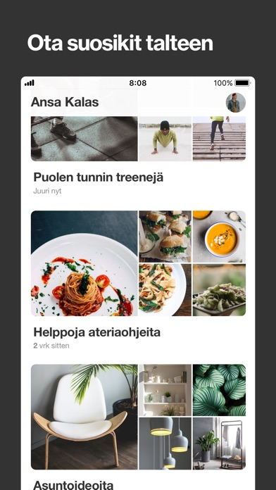 Screenshot for Pinterest in Finland App Store