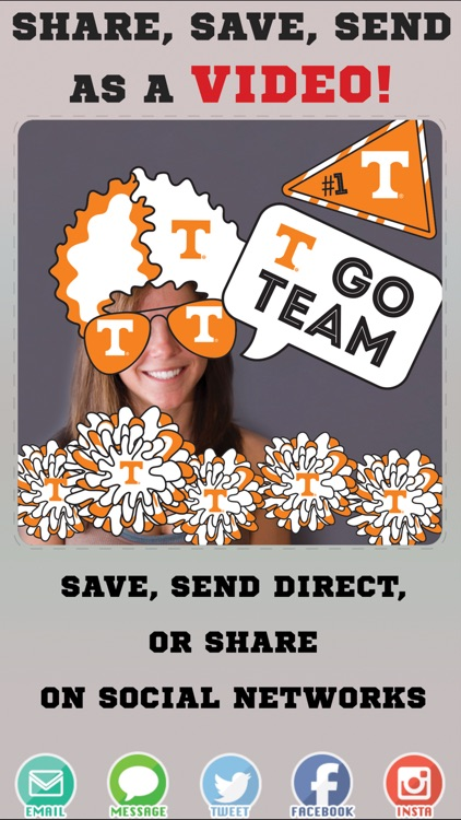 Tennessee Volunteers Animated Selfie Stickers screenshot-3